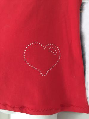 T-shirt cœur strass