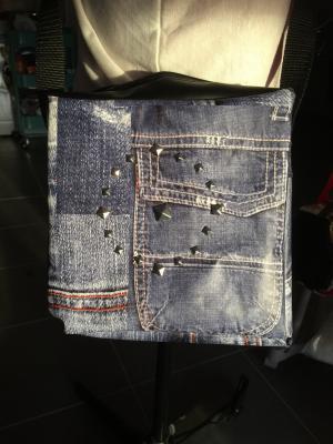 sacoche toile cirée jean